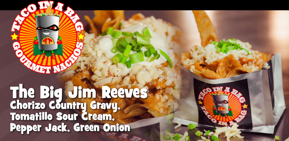 Taco in a bag. Chicago IL. The Big Jim Reeves taco.